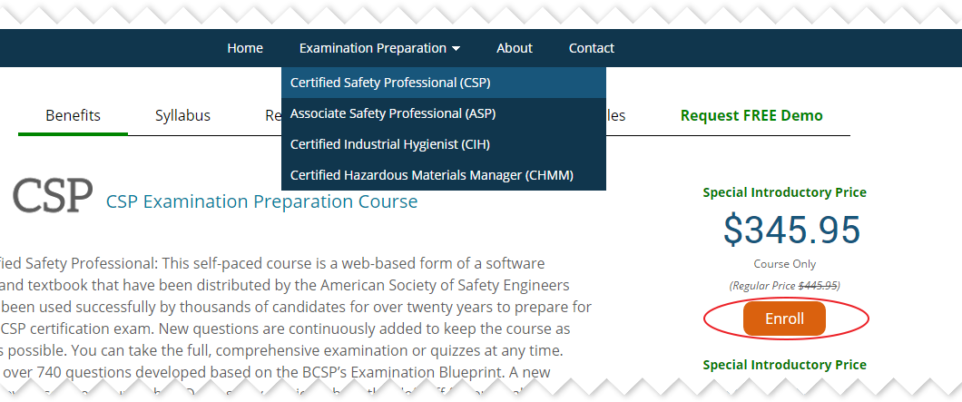 Enrolling in a course | Institute of Safety & Systems Management (ISSM)